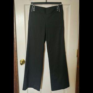 WHBM 2R black slacks NWOT